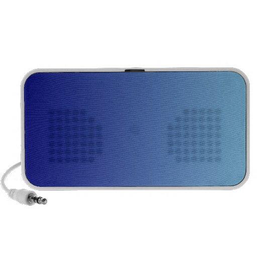 Azules marinos a la pendiente de la vertical de lo iPod altavoz