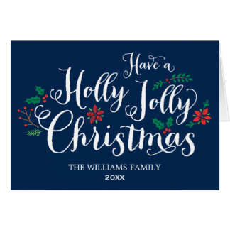 Azules marinos alegres de la tarjeta de Navidad