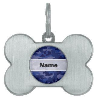 Azules marinos Camo, camuflaje Placas De Mascota