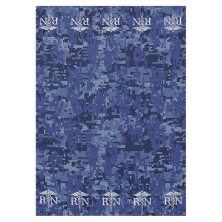 Azules marinos Camo del caduceo del RN Silber de Mantel