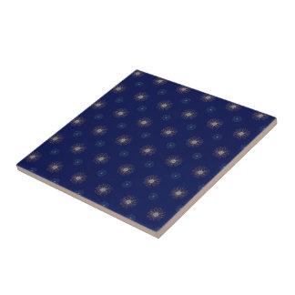 Azules marinos con el modelo azul claro de las azulejo cuadrado pequeño