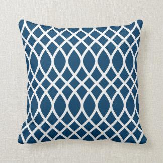 Azules marinos de la almohada el del modelo del
