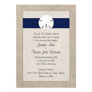 Azules marinos de la invitación del boda de playa