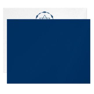 """Azules marinos de la recepción de Mitzvah de la Invitación 4.25"""" X 5.5"""""""