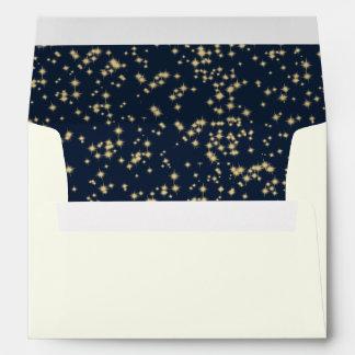 Azules marinos de medianoche del cielo del sobre