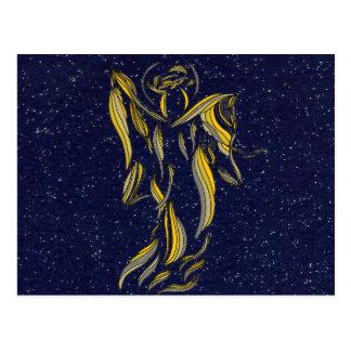 Azules marinos de oro Starfield del extracto del á Tarjeta Postal