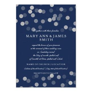 """Azules marinos del brillo de la astilla de la invitación 4.5"""" x 6.25"""""""