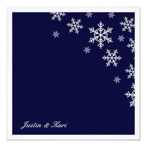 """azules marinos del copo de nieve 311-Sweet Invitación 5.25"""" X 5.25"""""""