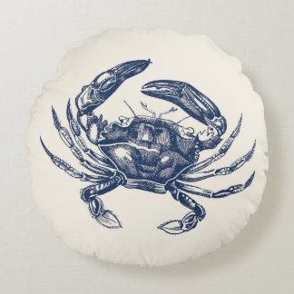 Azules marinos del ejemplo del cangrejo del cojín redondo