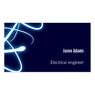 Azules marinos del ingeniero eléctrico el   tarjetas de visita