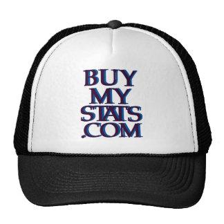 azules marinos del logotipo de BuyMyStats.com 3D c Gorros Bordados