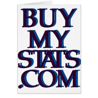 azules marinos del logotipo de BuyMyStats.com 3D c Tarjeta De Felicitación