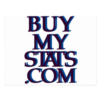 azules marinos del logotipo de BuyMyStats.com 3D Postal