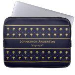 Azules marinos del vintage y libro del oro con nom fundas portátiles