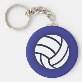 Azules marinos del voleibol llaveros personalizados