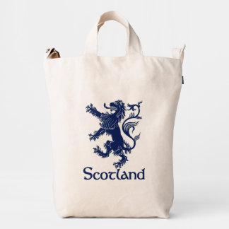 Azules marinos desenfrenados escoceses del león bolsa de lona duck