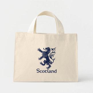 Azules marinos desenfrenados escoceses del león bolsa de tela pequeña