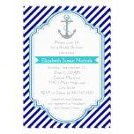 Azules marinos, ducha nupcial del boda náutico de