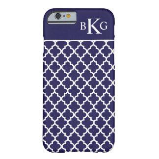 Azules marinos elegantes marroquíes del modelo y funda de iPhone 6 barely there