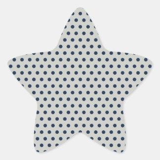 Azules marinos en pequeño modelo de lunares pegatina en forma de estrella