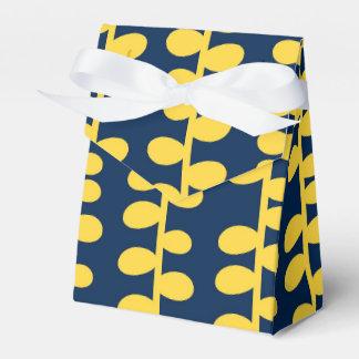Azules marinos frescos y modelo retro amarillo caja para regalos de fiestas