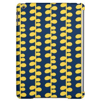 Azules marinos frescos y modelo retro amarillo