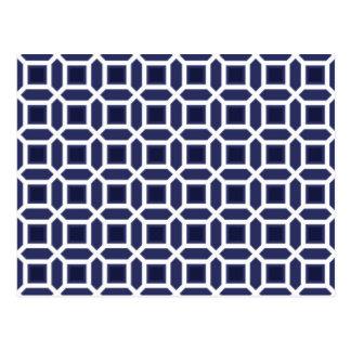 Azules marinos geométricos del modelo del círculo postales