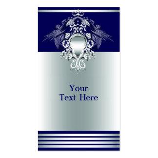 Azules marinos imperiales tarjetas de visita