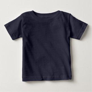 Azules marinos infantiles de la camiseta del bebé playeras