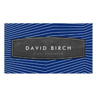 Azules marinos intrépidos de la insignia masculina tarjetas de visita