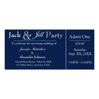 Azules marinos Jack e invitación del boleto de la Lona Publicitaria