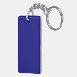 Azules marinos llavero rectangular acrílico a doble cara