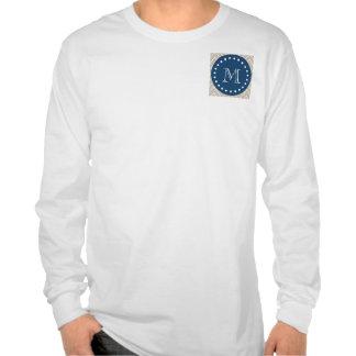 Azules marinos modelo beige el de Chevron su mo Camiseta