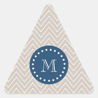 Azules marinos, modelo beige el | de Chevron su Pegatinas Triangulo