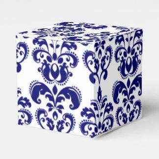 Azules marinos, modelo blanco 2 del damasco del cajas para regalos de fiestas