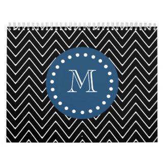 Azules marinos, modelo blanco y negro el | de Chev Calendario De Pared