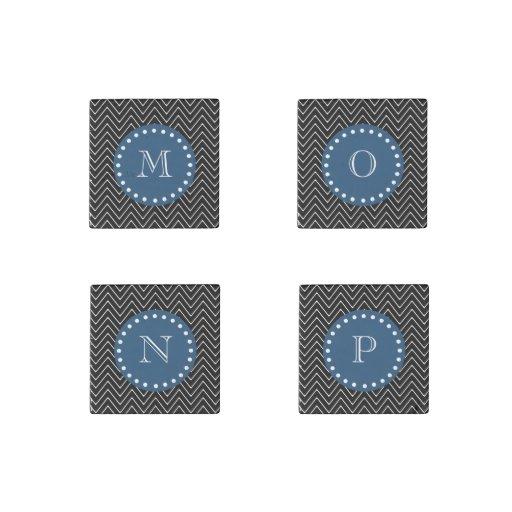 Azules marinos, modelo blanco y negro el   de Chev Imán De Piedra