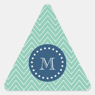 Azules marinos, modelo el | de Chevron de la verde Calcomanías De Triangulos