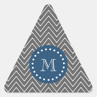 Azules marinos, modelo el | de Chevron del gris de Pegatinas Trianguladas