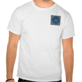 Azules marinos modelo el de Chevron del gris de Camiseta