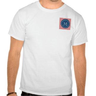 Azules marinos modelo el de Chevron del melocot Camiseta