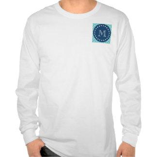 Azules marinos modelo el de Chevron del trullo Camisetas