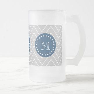Azules marinos, modelo gris el | de Chevron su mon Tazas De Café