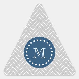 Azules marinos, modelo gris el | de Chevron su Pegatinas Trianguladas Personalizadas