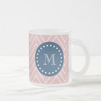 Azules marinos modelo rosado el de Chevron su m Tazas De Café