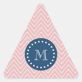 Azules marinos, modelo rosado el | de Chevron su Colcomanias Trianguladas Personalizadas