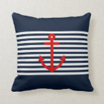 Azules marinos náuticos almohadas