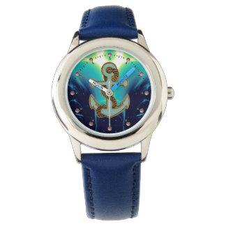 Azules marinos NÁUTICOS/del MAR de las ONDAS, del Relojes