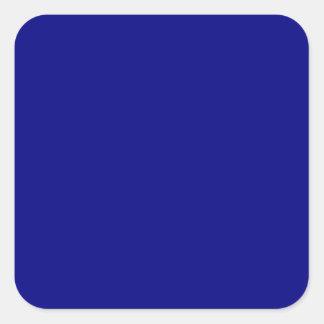 Azules marinos calcomanías cuadradas