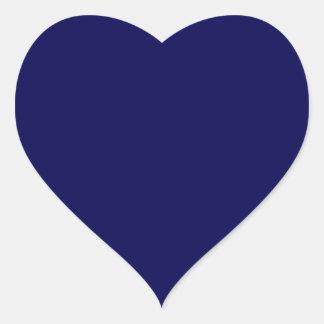 Azules marinos calcomanía de corazón